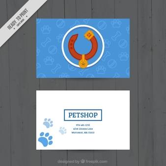 Modèle de carte vétérinaire