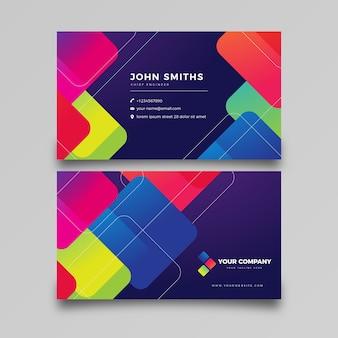 Modèle de carte de visite abstrait coloré