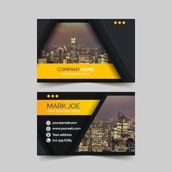 Modèle de carte de visite abstrait avec photo