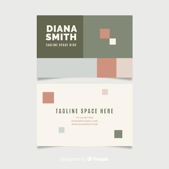 Modèle de carte de visite abstraite avec des carrés