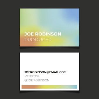 Modèle De Carte De Visite Abstraite Colorée Vecteur gratuit