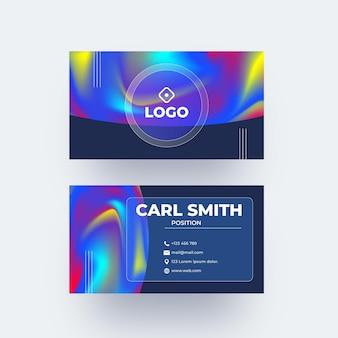 Modèle de carte de visite abstraite colorée