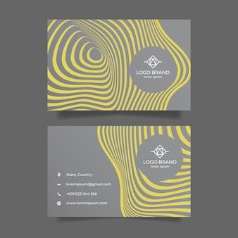 Modèle de carte de visite abstraite jaune et gris