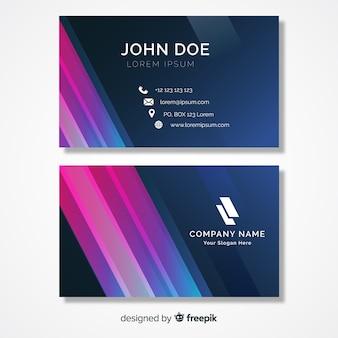 Modèle de carte de visite abstraite avec logo
