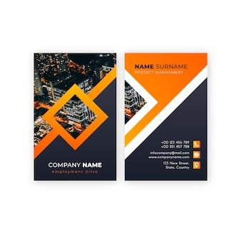 Modèle de carte de visite abstraite avec photo