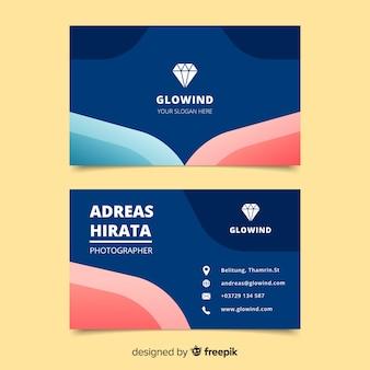 Modèle de carte de visite abstraite