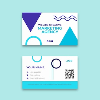 Modèle de carte de visite d'agence de marketing