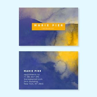 Modèle de carte de visite aquarelle abstraite