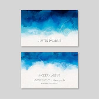 Modèle de carte de visite aquarelle