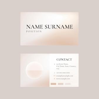 Modèle de carte de visite en beige pour marque de beauté à thème féminin