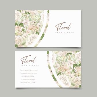 Modèle de carte de visite de belles roses