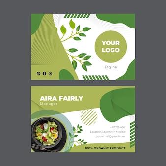 Modèle de carte de visite bio et alimentation saine