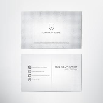 Modèle de carte de visite blanc classique