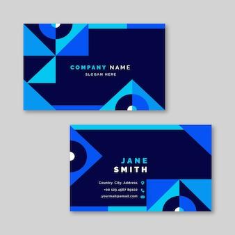 Modèle de carte de visite bleu classique abstrait en bleu classique