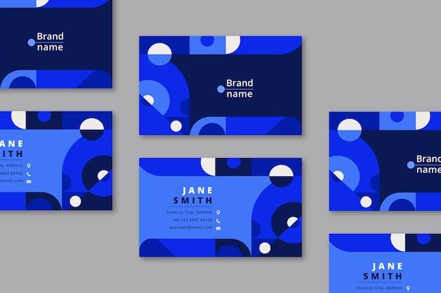 Modèle de carte de visite en bleu classique