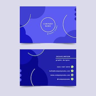 Modèle de carte de visite bleu classique