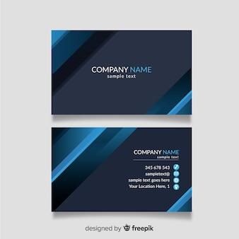 Modèle de carte de visite bleu et gris