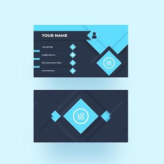 Modèle de carte de visite bleu neumorph