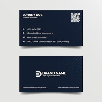 Modèle de carte de visite bleu professionnel d'entreprise