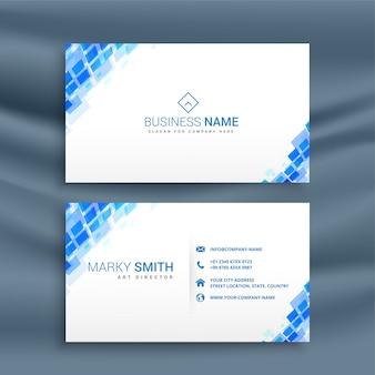 Modèle de carte de visite bleu style mosaïque