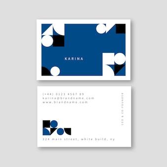Modèle de carte de visite bleu