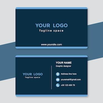 Modèle de carte de visite bleue