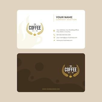 Modèle de carte de visite café simple
