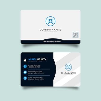 Modèle de carte de visite et de carte de visite créative moderne bleue