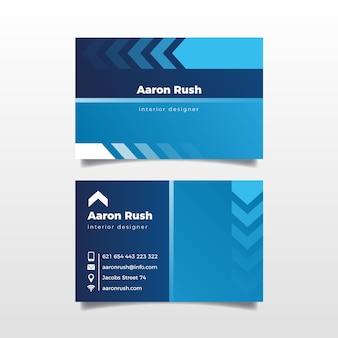 Modèle de carte de visite classique bleu abstrait