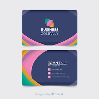 Modèle de carte de visite coloré abstrait
