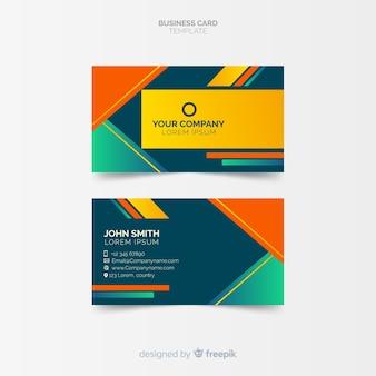 Modèle de carte de visite coloré avec design géométrique
