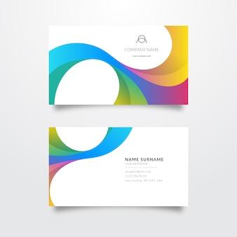 Modèle de carte de visite coloré élégant