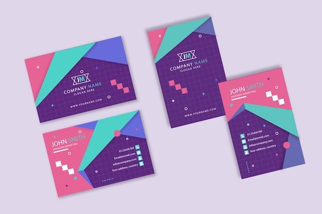 Modèle de carte de visite colorée