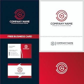 Modèle de carte de visite et concept de logo cg technology