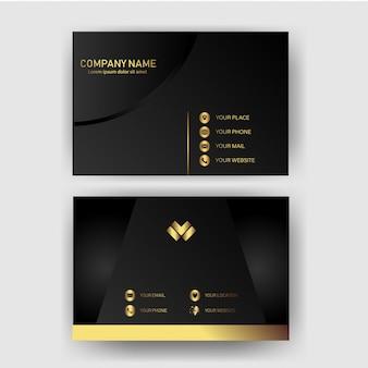 Modèle de carte de visite avec le concept d'or moderne géométrique