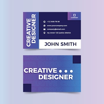 Modèle de carte de visite de concepteur créatif drôle
