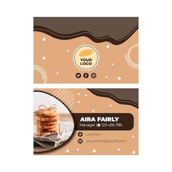 Modèle de carte de visite de cookies
