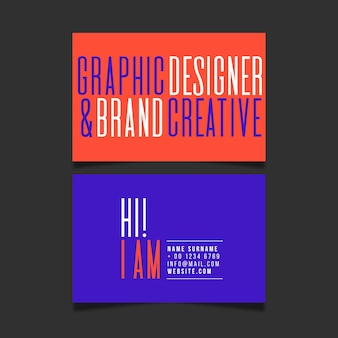 Modèle de carte de visite créative de marque