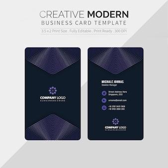 Modèle de carte de visite créative