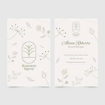 Modèle de carte de visite dans un style floral