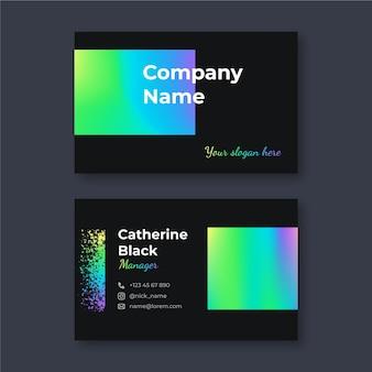 Modèle De Carte De Visite Dégradé Coloré Vecteur gratuit