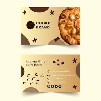 Modèle de carte de visite de délicieux cookies