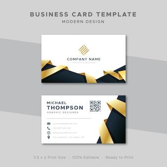 Modèle de carte de visite design élégant or