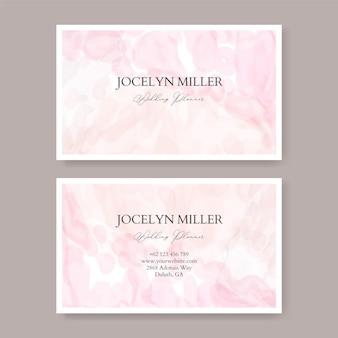 Modèle de carte de visite doux et beau avec aquarelle