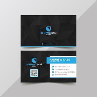 Modèle de carte de visite élégant d'affaires