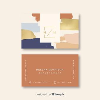 Modèle de carte de visite élégant coloré