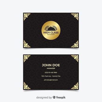 Modèle de carte de visite élégant doré