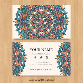 Modèle de carte de visite élégant mandala