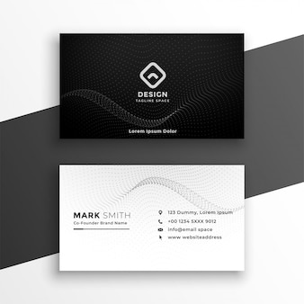 Modèle de carte de visite élégant noir et blanc