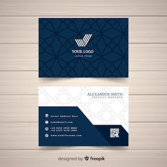 Modèle de carte de visite élégant et plat